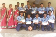 Inter-School Basket Ball Tournament conducted by The Rajas International School. Our Students won III rd Prize.