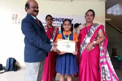 M. SHENITA BRUCE - STD IV got 2nd Prize in Quiz Competition  and 3rd Prize in Tamil Elocution Conducted by KUMARI KALAIKALAKAM on 23-07-2018