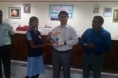 J.L. EPRATHA - Std IX Receiving  Second Prize from Kanyakymari District Collector for classes IX-X (Group) Category in the World Small Savings Day Drama Competition conducted for Kanyakumari District on