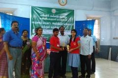 Sanjay and K.S. Sneka- of std-X Receiving 2nd Prize for classes IX-X category in the Science Exhibition conducted for Kanyakumari Revenue District on 23-10-2018.